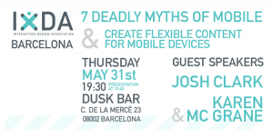 IxDA Barcelona Mobile Event Thursday May 31st 19:30